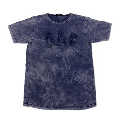 تی شرت سنگ شور تکه دوزی شده GAP