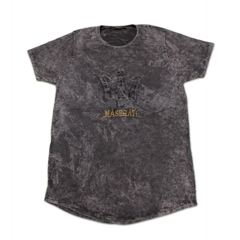 تی شرت سنگ شور تکه دوزی شده مازراتی