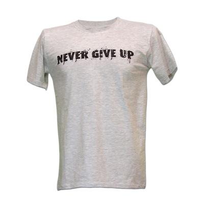 تی شرت ملانژ NEVER GIVE UP