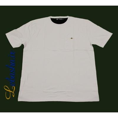 تیشرت سایز بزرگ سفید جیب دار