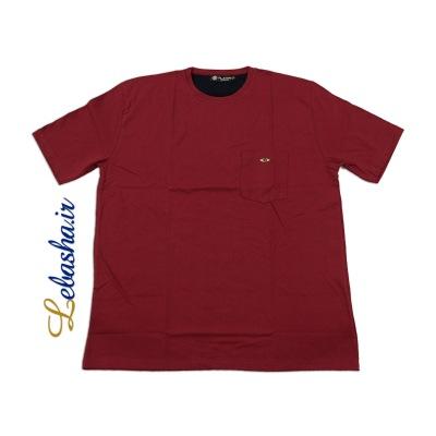 تیشرت سایز بزرگ قرمز جیب دار 3XL
