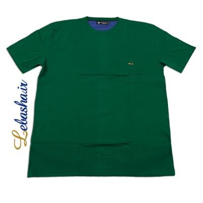تیشرت سایز بزرگ سبز جیب دار