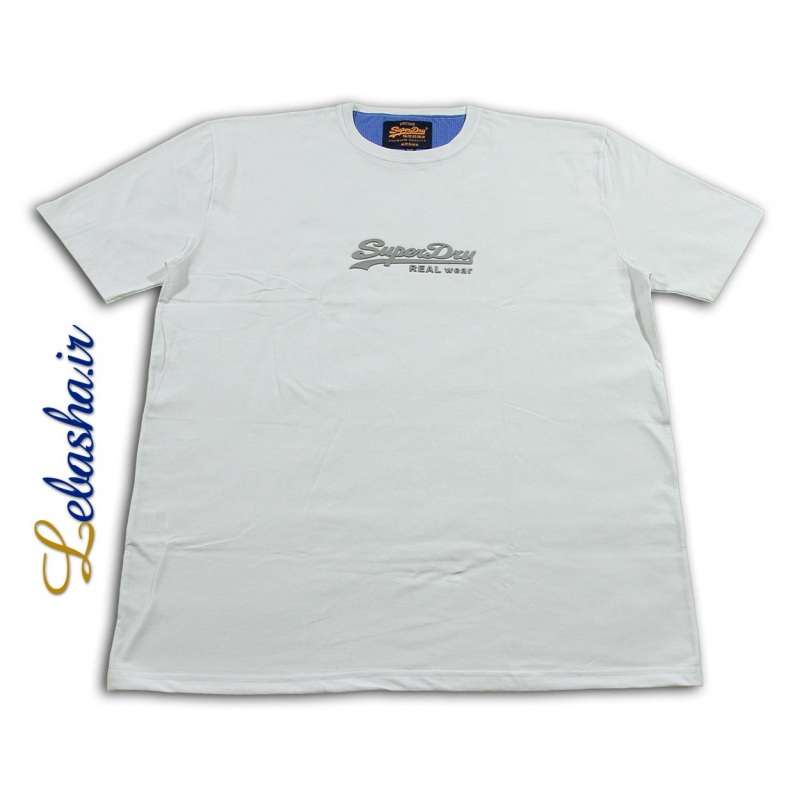 تیشرت سایز بزرگ سفید سوپر