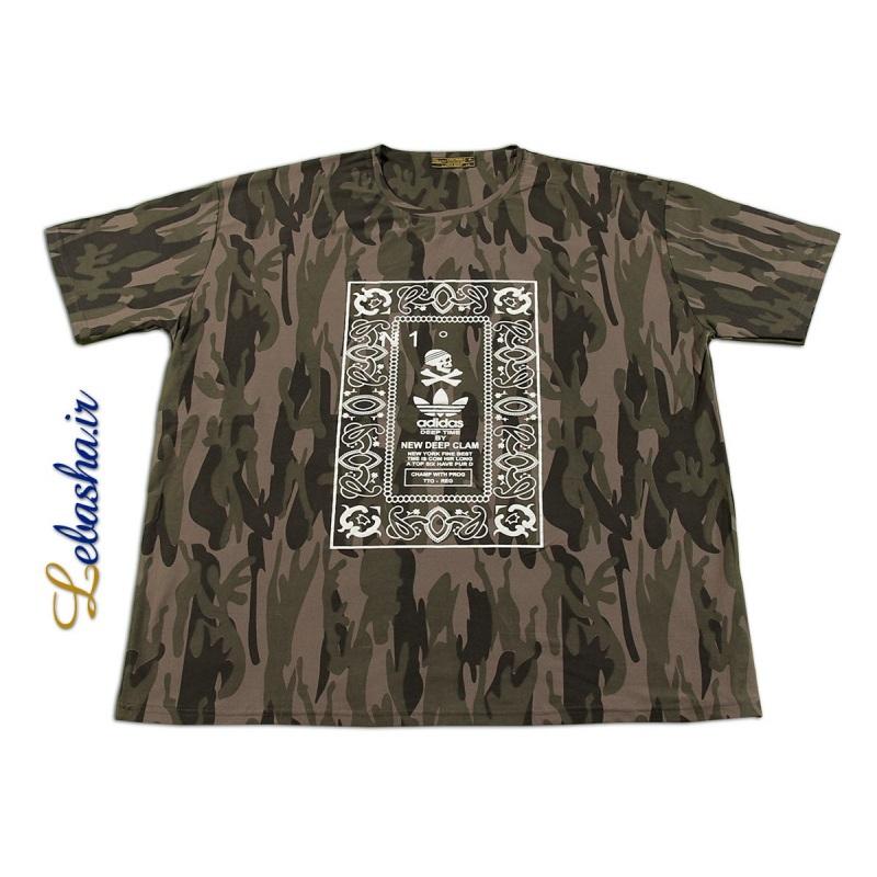 تی شرت سایز بزرگ چریکی