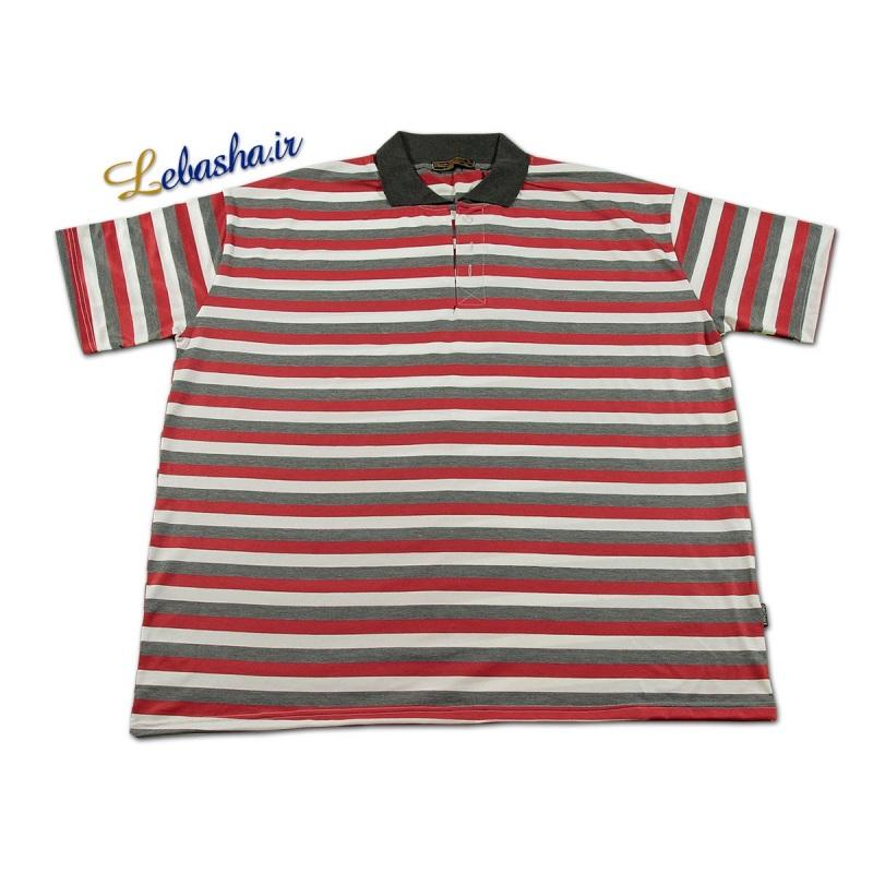 تی شرت راه راه سایز بزرگ قرمز