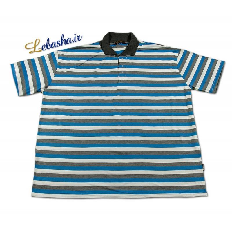 تی شرت راه راه سایز بزرگ آبی