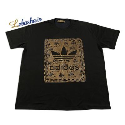 تی شرت سایز بزرگ چاپ طلایی