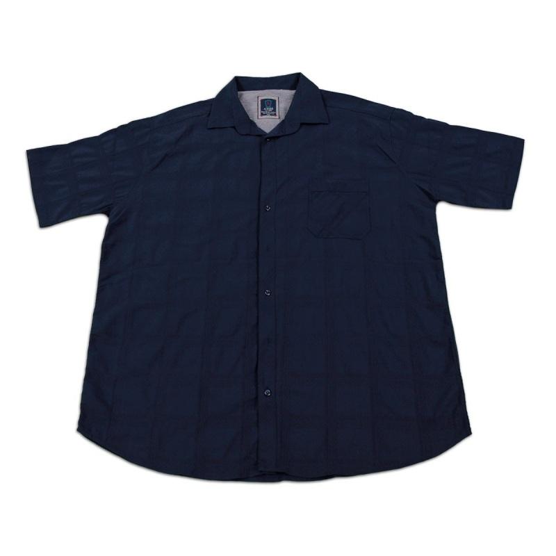 پیراهن سایز بزرگ آستین کوتاه جیب دار