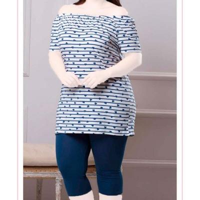 تیشرت شلوارک سایز بزرگ سکسن 13099