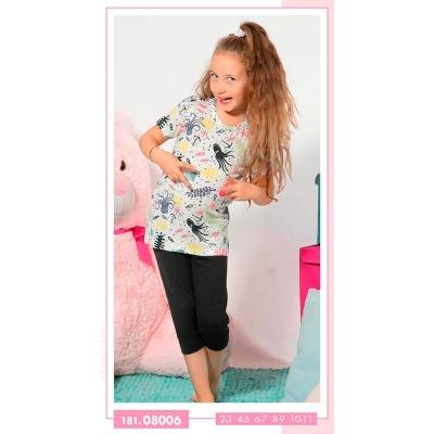 تیشرت شلوارک دخترانه ست دو تیکه بچه گانه دخترانه