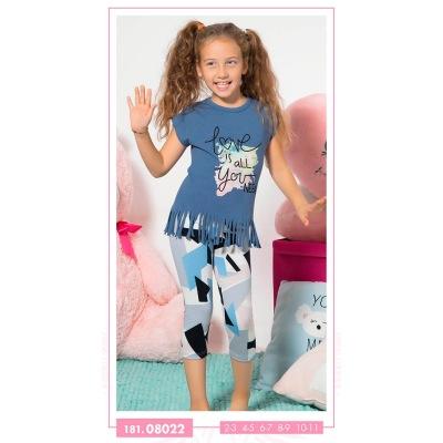 تیشرت شلوارک دخترانه بچه گانه 08022