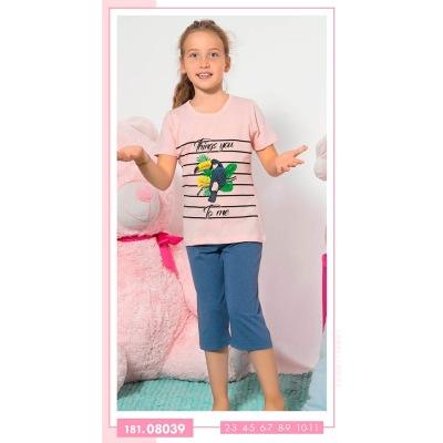 تیشرت شلوارک دخترانه بچه گانه 08039