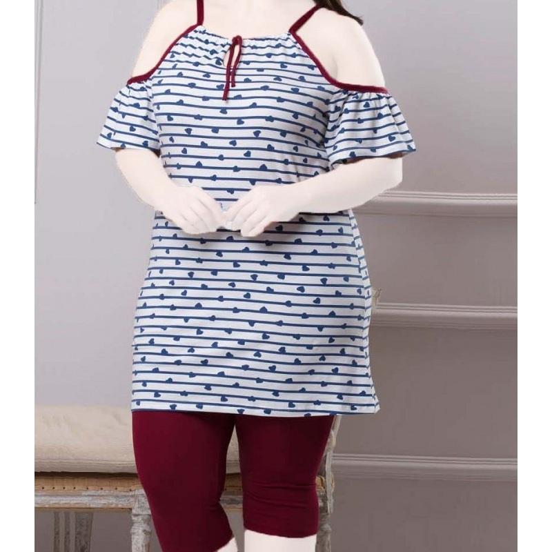 تیشرت شلوارک زنانه دخترانه سایز بزرگ سکن 13100 sexen