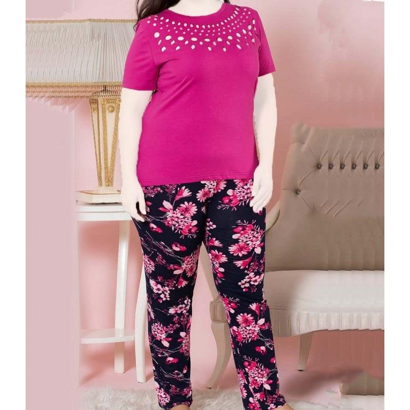 تیشرت شلوار زنانه دخترانه سایز بزرگ سکن 14021 sexen