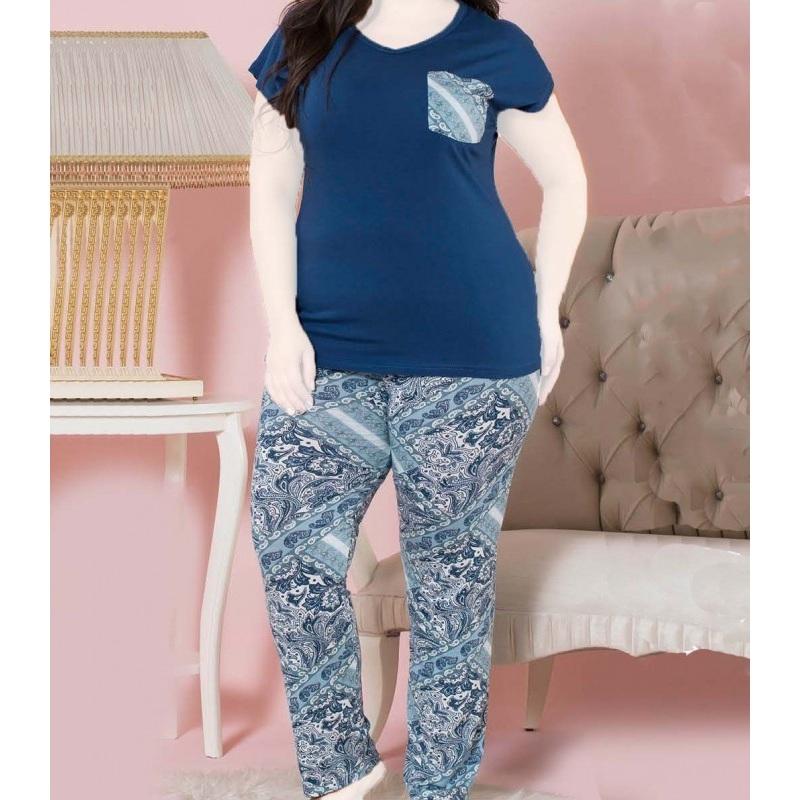 تیشرت شلوار زنانه دخترانه سایز بزرگ سکن 14027 sexen