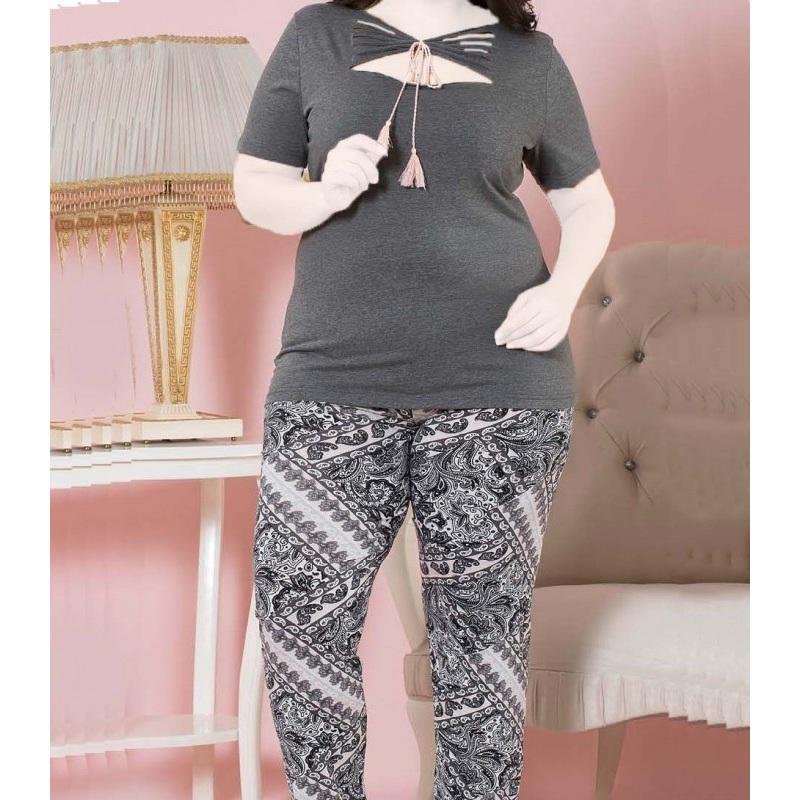 تیشرت شلوار زنانه دخترانه سایز بزرگ سکن 14033 sexen