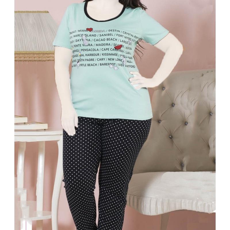 تیشرت شلوار زنانه دخترانه سایز بزرگ سکن 14038 sexen