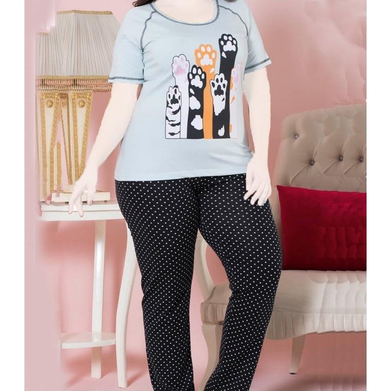 تیشرت شلوار زنانه دخترانه سایز بزرگ سکن 14045 sexen