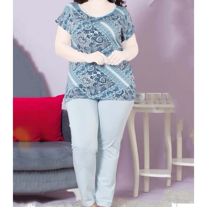 تیشرت شلوار زنانه دخترانه سایز بزرگ سکن 14055 sexen