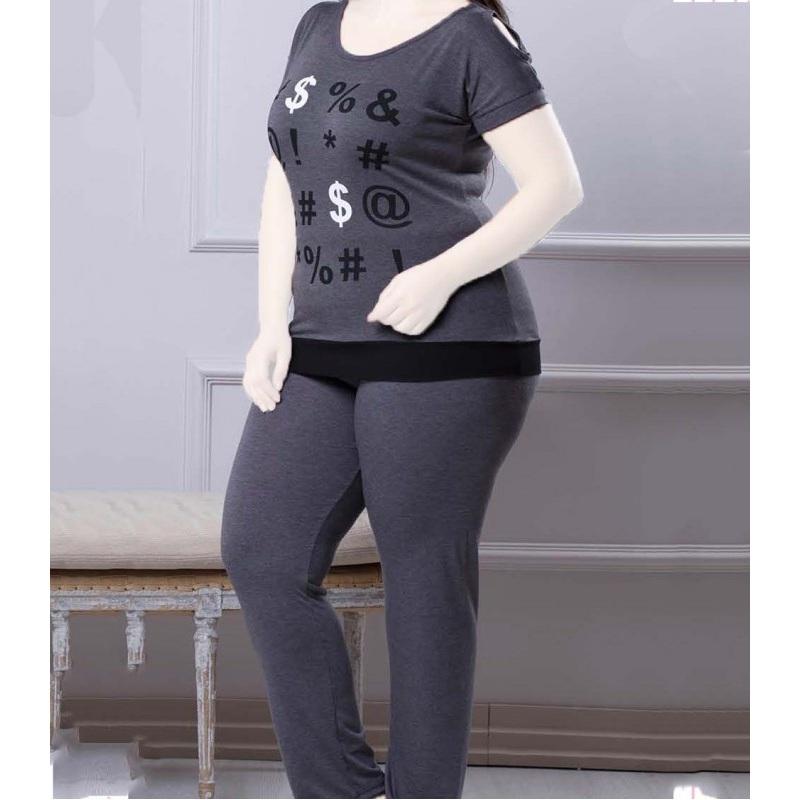 تیشرت شلوار زنانه دخترانه سایز بزرگ سکن 14099 sexen