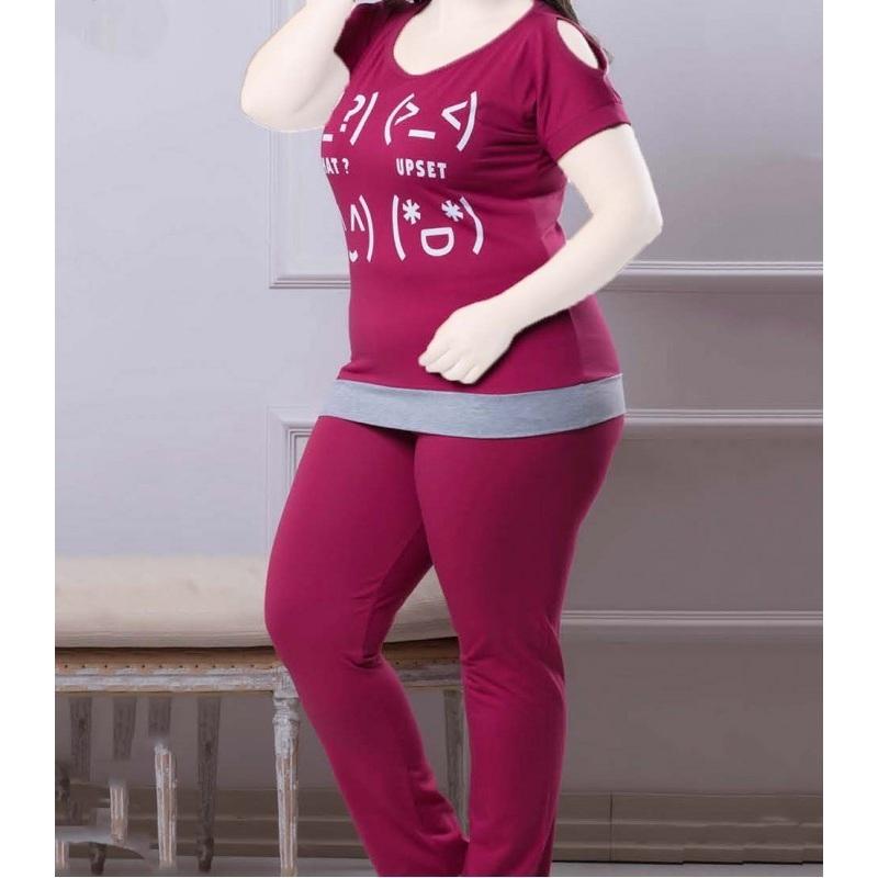 تیشرت شلوار زنانه دخترانه سایز بزرگ سکن 14102 sexen