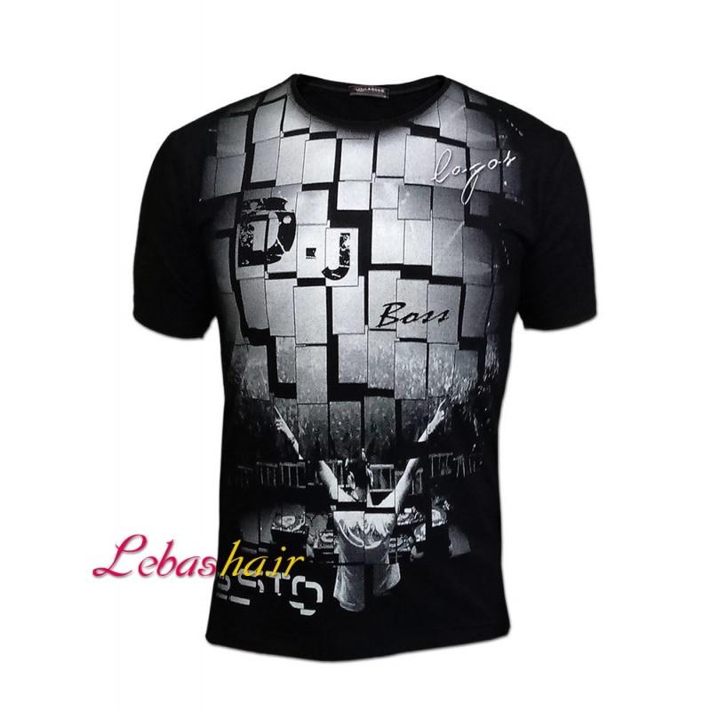 تی شرت طرح دیجی تیستو با طراحی بسیار خاص کاشی مانند 812