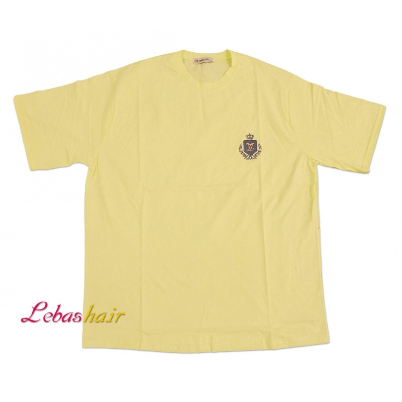 تیشرت سایز بزرگ مردانه یقه گرد رنگ لیمویی در فروشگاه اینترنتی لباس ها