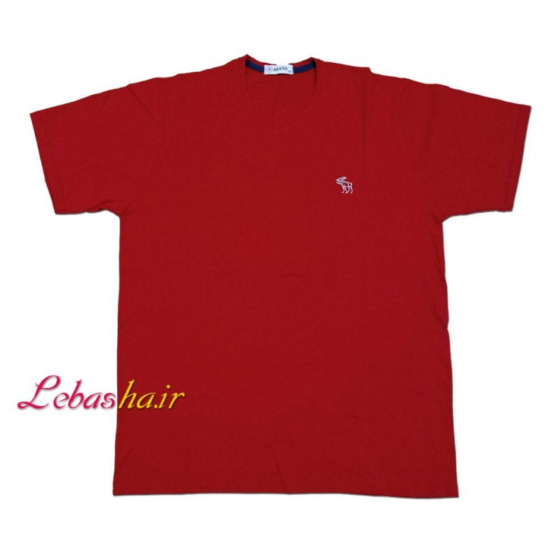 تیشرت رنگ قرمز سایز بزرگ 5 ایکس یقه گرد صد در صد پنبه
