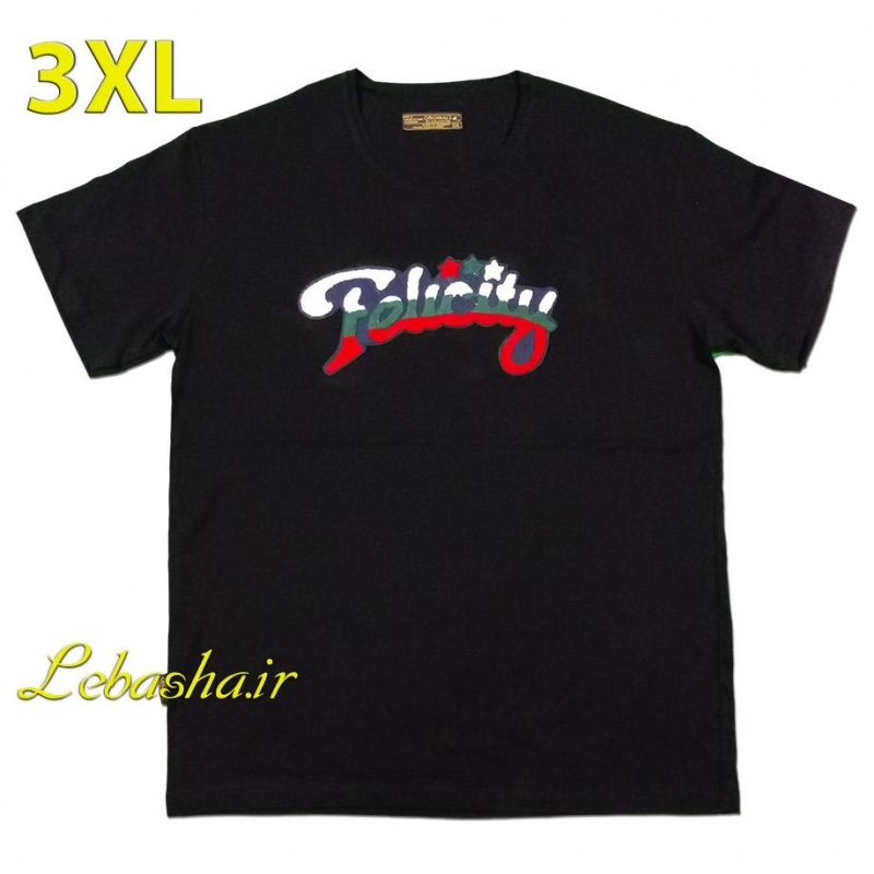 تیشرت سایز بزرگ سه ایکس لارج نخی یقه گرد felicity T-shirt felicity 3X