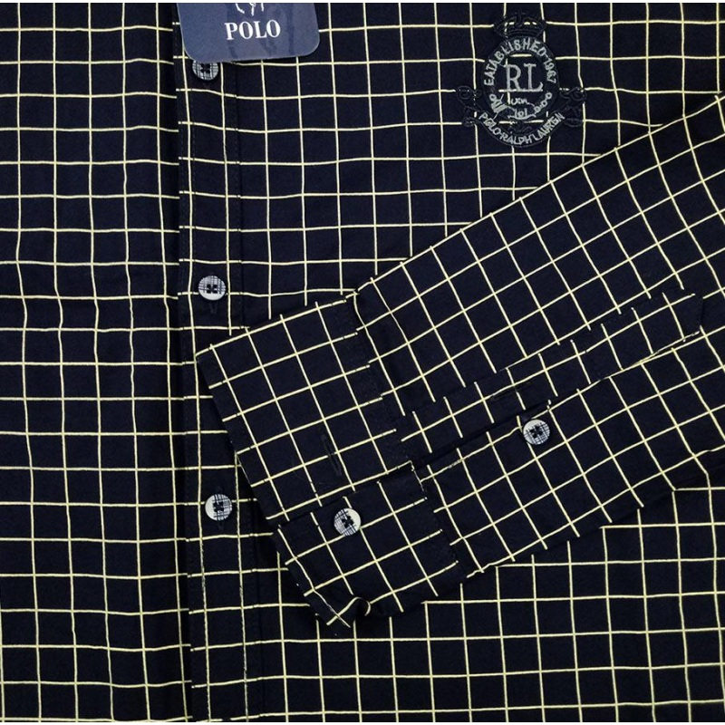 پیراهن چهارخونه سایز بزرگ آستین بلند پارچه کشی کد 1996