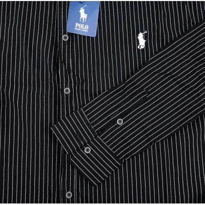 پیراهن راه راه ریز سایز بزرگ