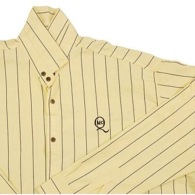 پیراهن سایز بزرگ راه راه لیمویی