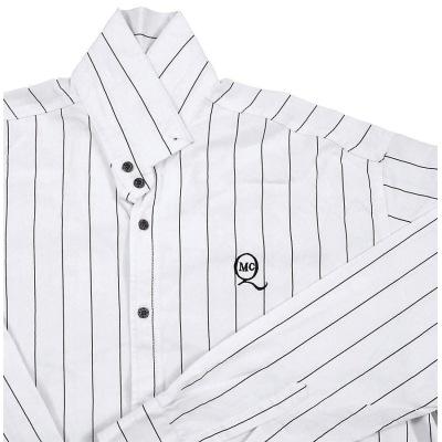 پیراهن سایز بزرگ راه راه سفید