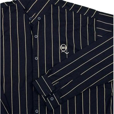 پیراهن سایز بزرگ راه راه سرمه ای