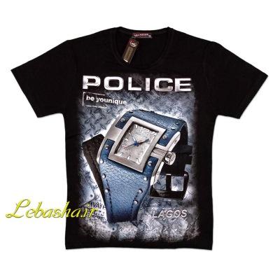 تیشرت سایز بچه گانه پسرانه طرح پلیس و ساعت با پارچه درجه یک ویسکوز