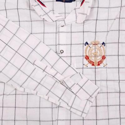 پیراهن چهارخونه سایز بزرگ سفید