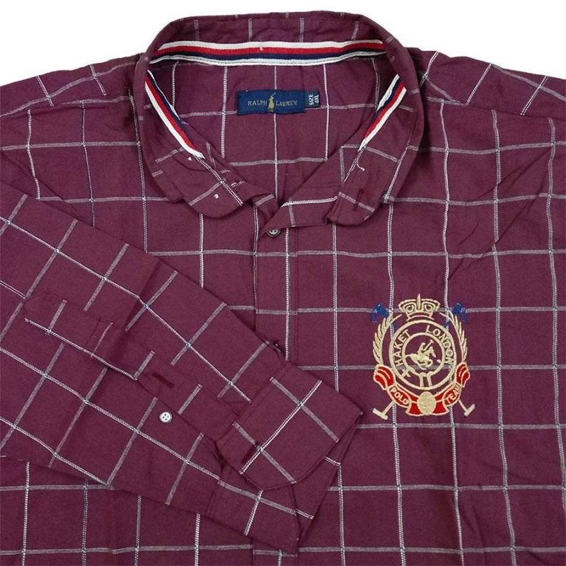 پیراهن چهارخونه سایز بزرگ پارچه پنبه پنبه بدون کش زرشکی کم رنگ