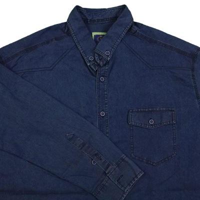 پیراهن لی آبی دو جیب