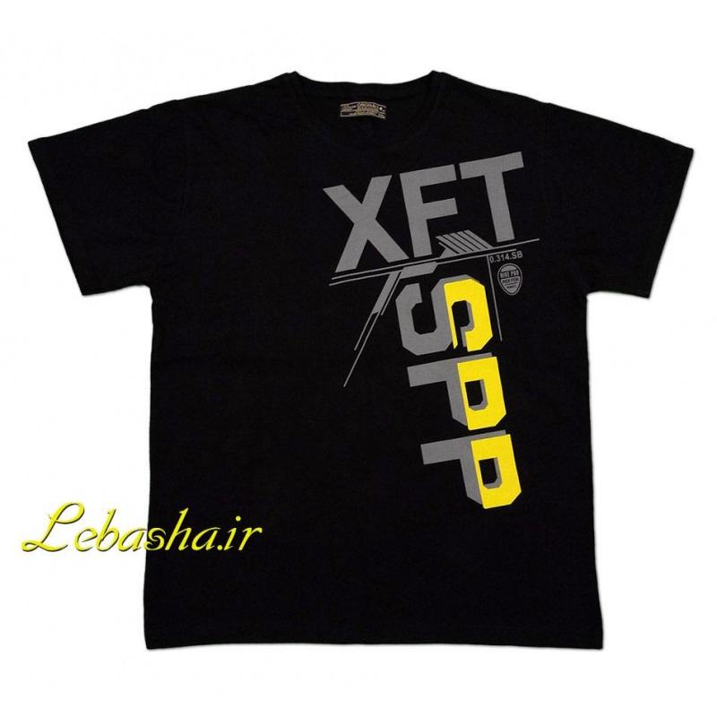 تیشرت سایز بزرگ مردانه XFT رنگ زمینه مشکی