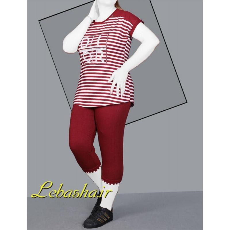 تیشرت شلوارک زنانه سایز بزرگ