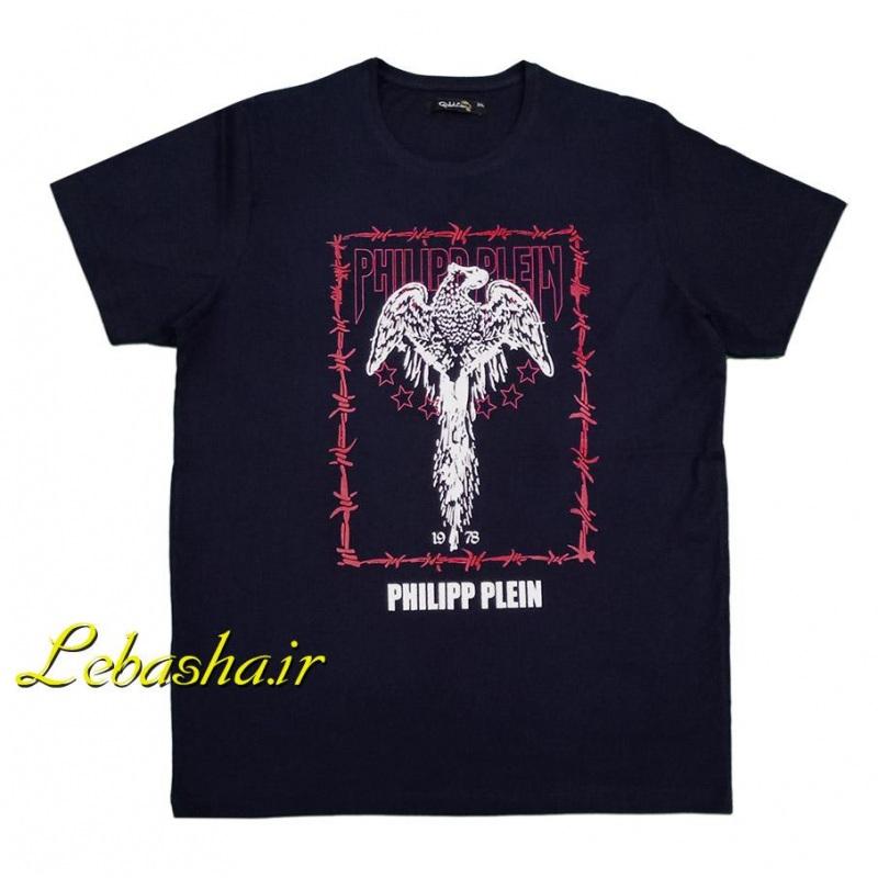 تیشرت سایز بزرگ فیلیپ پلین سرمه ای با چاپ عقاب