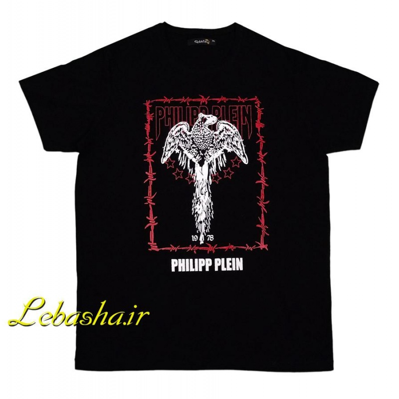 تیشرت سایز بزرگ فیلیپ پلین مشکی با چاپ عقاب
