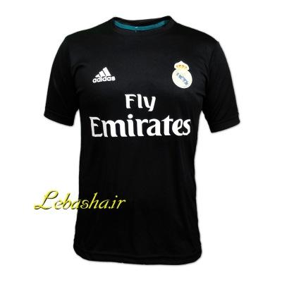 پیراهن ورزشی رئال ماردید تیشرت مشکی باشگاه رئال مادرید اسپانیا  مخصوص ورزش