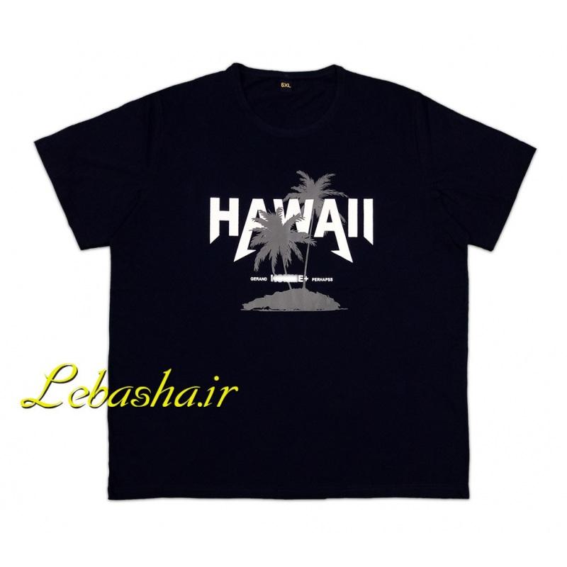 تیشرت 6XL-7XL مشکی و سرمه ای سایز خیلی بزرگ هاوایی