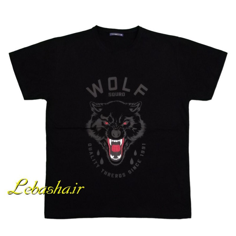 تیشرت سایز بزرگ نخی پنبه ای مدل گرگ wolf