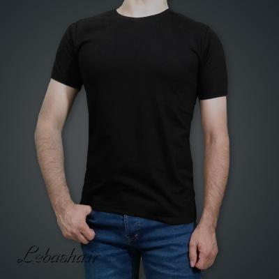 تیشرت مشکی ساده بدون چاپ آستین کوتاه