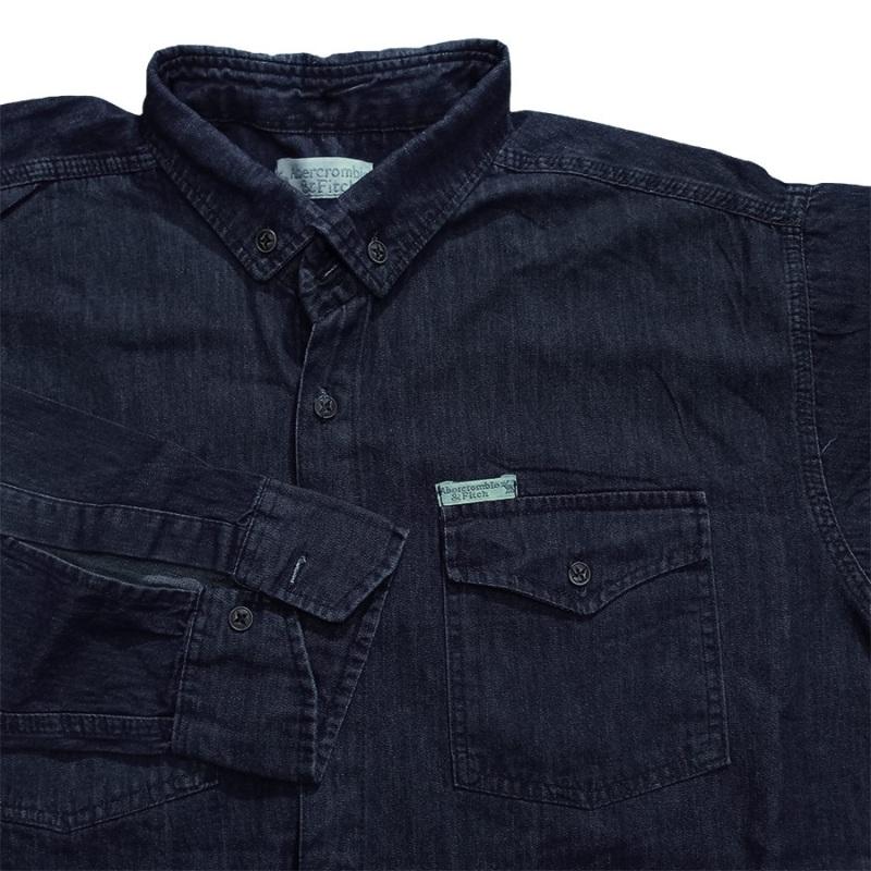 پیراهن جین سایز بزرگ رنگ سرمه ای تیره