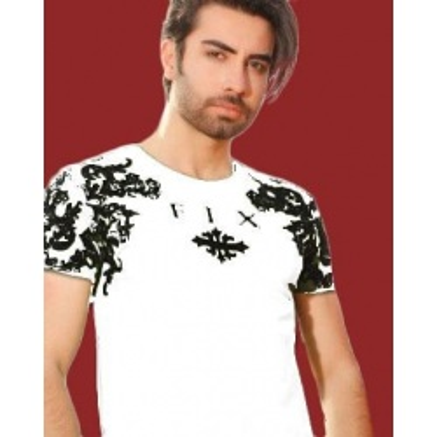 تی شرت نخی رنگ سفید