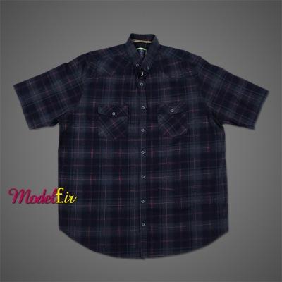 پیراهن سایز بزرگ دو جیب چهارخونه