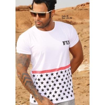 تی شرت پنبه ای کد F81